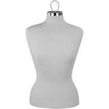 MN-448 Pinnable Female Dress Form Mannequin with Hanging Wire Loop - DisplayImporter