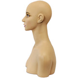 MN-508 Female Mannequin Head Form with Shoulder Bust
