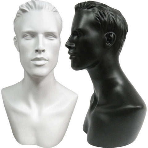 MN-513 Male Mannequin Head Form - DisplayImporter