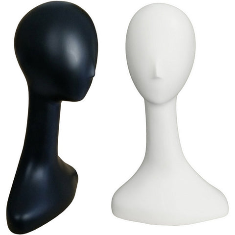 MN-516 Female Abstract Mannequin Head Form with Long Neck - DisplayImporter