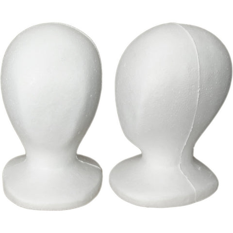 MN-519 Child/Pre-Teen Size Styrofoam Mannequin Head - DisplayImporter