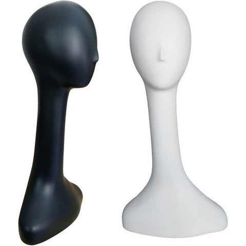 MN-520 Female Abstract Mannequin Head Form with Long Neck - DisplayImporter
