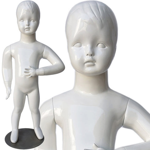 MN-534 Glossy Abstract Standing Baby Toddler Mannequin 30.5""