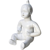 MN-538 Glossy Abstract Sitting Baby Toddler Mannequin - DisplayImporter
