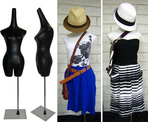 MN-601 Female Dress Form with Long Neck Hat Display - DisplayImporter