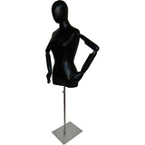 MN-602 Female Egghead Dress Form with Articulate Arms - DisplayImporter