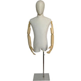 MA-052 Rectangular Flat Dress Form Mannequin Base with Pole - DisplayImporter