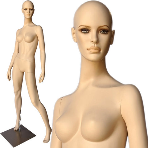 MN-F1 Euro Female Mannequin with Hyper Realistic Facial Features and Free Wig - DisplayImporter