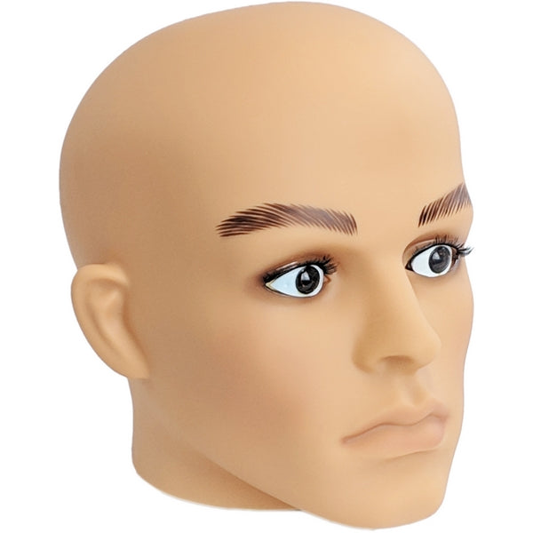 MN-G2 Plastic Male Realistic Head Attachment for Mannequins/Forms - DisplayImporter