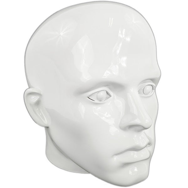 MN-G2-G Glossy Plastic Male Abstract Head Attachment for Mannequins/Forms - DisplayImporter