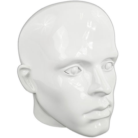 MN-G2-G Glossy Plastic Male Abstract Head Attachment for Mannequins/Forms
