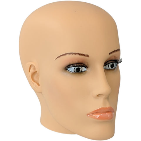 MN-S7 Plastic Female Realistic Head Attachment for Mannequins/Forms, has Pierced Ears - DisplayImporter
