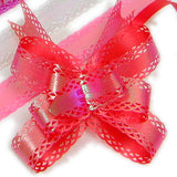 PG-028 Small Iridescent Graduated 3 Wings Butterfly Pull Ribbon - Pack of 10
