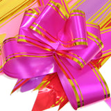 PG-031 The Grand Gold-Toned Foil Trimmed Butterfly Pull Ribbon - Pack of 10 - DisplayImporter