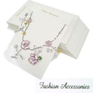 PG-041LTP 100 pcs 'Fashion Accessories' Complete Jewelry Set Card With Bags (LESS THAN PERFECT, FINAL SALE)  - DisplayImporter.com