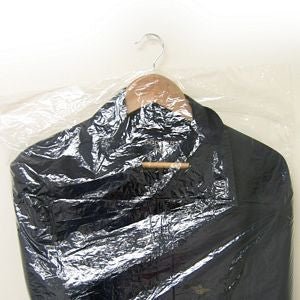 "PG-080 72"" L Clear Poly Garment Bags - Coat/Gown  - DisplayImporter.com"