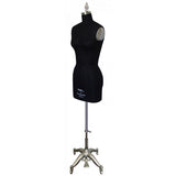 PMP-604 Black Pinnable Dress Maker Ladies Form with Hip and Collapsible Shoulders
