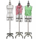 PMP-901B Raw Steel Metal Ladies Dress Form