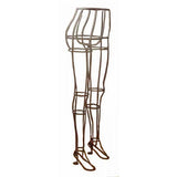 PMP-901F Wrought Iron Pants Wire Mannequin Form Display (Raw steel-colored) - DisplayImporter