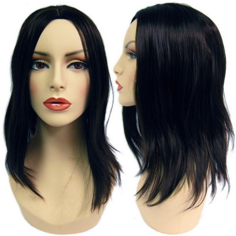 WG-022 Straight Black Female Wig - DisplayImporter