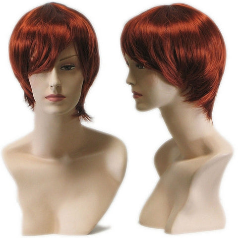 WG-023 Auburn Red Female Wig - DisplayImporter