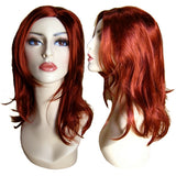 WG-026 Shoulder Length Red Ariel Female Wig - DisplayImporter