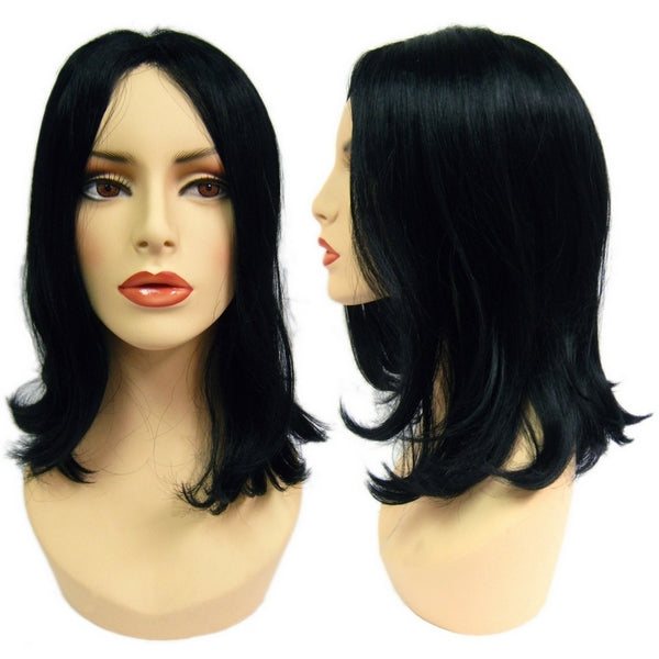 WG-048 Wavy Dark Tina Female Wig - DisplayImporter