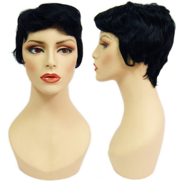 WG-050 Black Pixie Cut Jen Female Wig - DisplayImporter