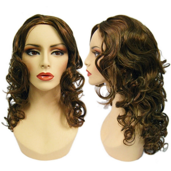 WG-052 Brunette Luscious Curly Stella Female Wig - DisplayImporter