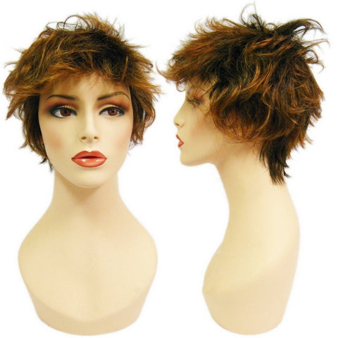 WG-054 Highlights Shaggy Brunette Winona Wig - DisplayImporter
