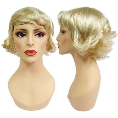 WG-057 Flipped Blonde Joan Female Wig - DisplayImporter