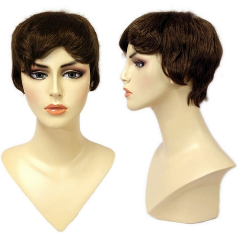 WG-061 Brunette Pixie Cut Jen Female Wig - DisplayImporter