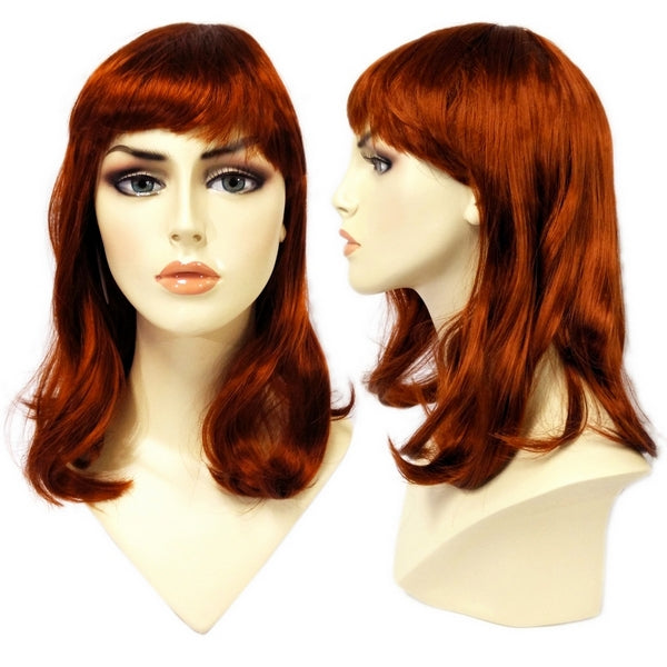 WG-062 Soft Look Auburn Red Alley (Scarlett) Wig - DisplayImporter