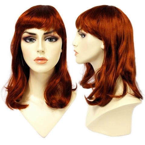 WG-062 Soft Look Auburn Red Alley Scarlett Female Wig - DisplayImporter