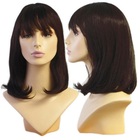 WG-063 Soft Look Dark Brunette Alley Wig - DisplayImporter