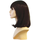 WG-063 Soft Look Dark Brunette Alley Female Wig - DisplayImporter