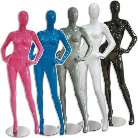 AF-017 Glossy Female Abstract Mannequin - Sherry - DisplayImporter