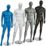 AF-024 Glossy Male Abstract Mannequin - Derrick - DisplayImporter