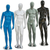 AF-025 Glossy Male Abstract Mannequin - Mark - DisplayImporter