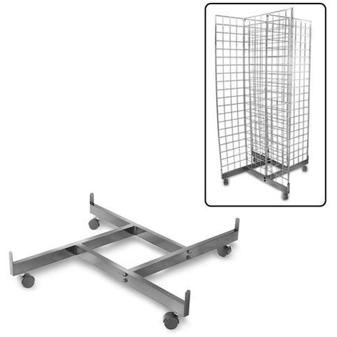 AF-030 4 Way Pinwheel Gridwall/Slatgrid Dolly - DisplayImporter