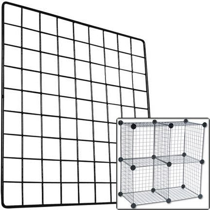 AF-033 Heavy Weight Grid Wire Storage Cube Panel - DisplayImporter
