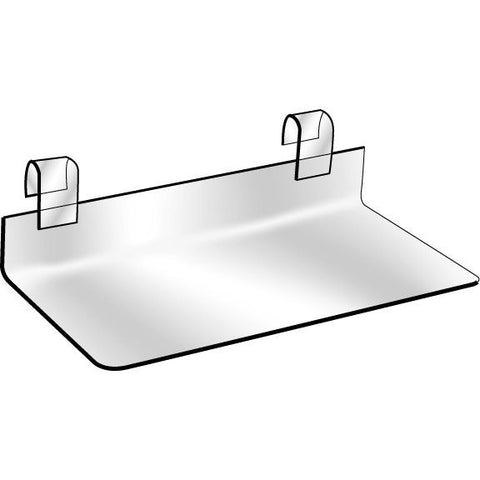 "AF-037 4"" x 10"" Clear Lucite Gridwall Shoe Shelf - DisplayImporter"