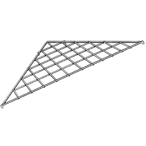 AF-038 Triangle Gridwall Shelf - DisplayImporter