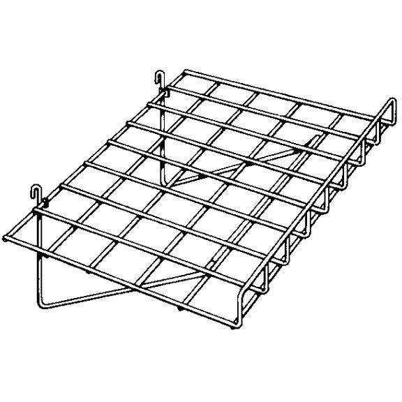 AF-040 Straight Wire Gridwall Shelf with Front Lip - DisplayImporter