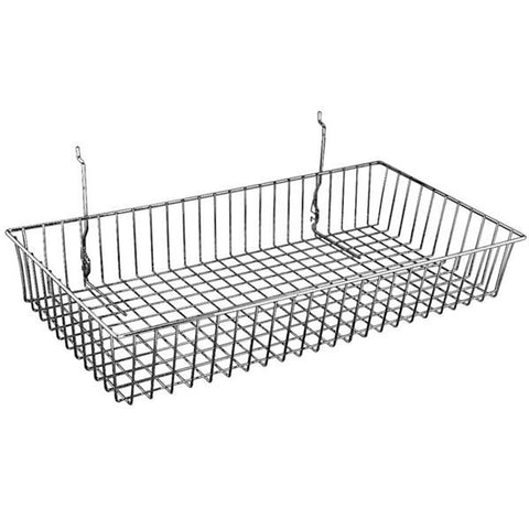AF-043 Shallow Gridwall/Slatwall Basket - DisplayImporter