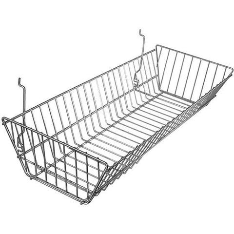 AF-044 Large Double Sloping Gridwall/Slatwall Basket - DisplayImporter