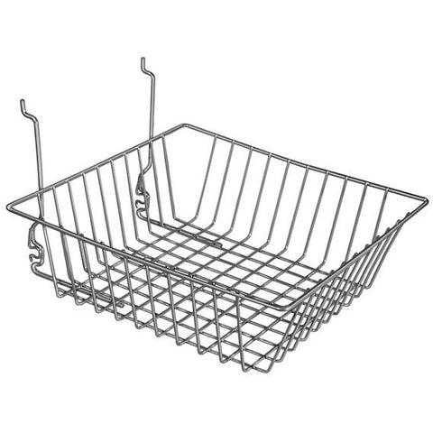 AF-045 Small Double Sloping Gridwall/Slatwall Basket - DisplayImporter