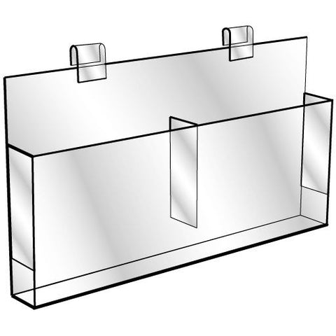 AF-050 Acrylic Gridwall Double Brochure Holder - DisplayImporter