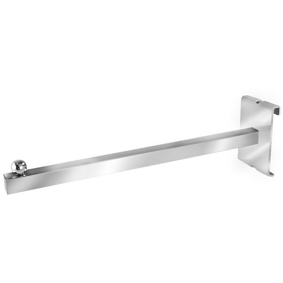 "AF-055 12"" Square Tubing Straight Arm Gridwall Bracket - DisplayImporter"