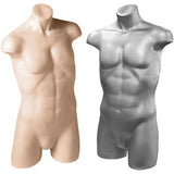 AF-101 Freestanding Male Athletic Mannequin Torso Form - DisplayImporter